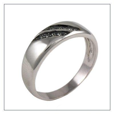 anelli da uomo in oro con diamanti neri