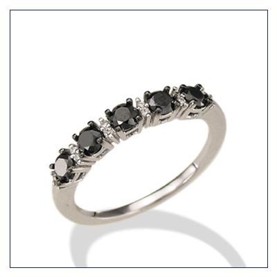 anelli fedina con diamanti neri