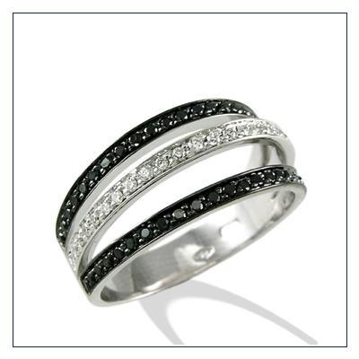 anelli diamanti nero