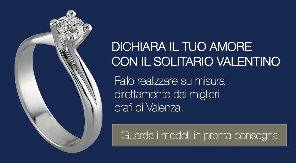 anello solitario valentino
