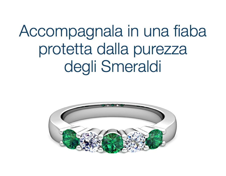 gioielli italiani anelli con smeraldi