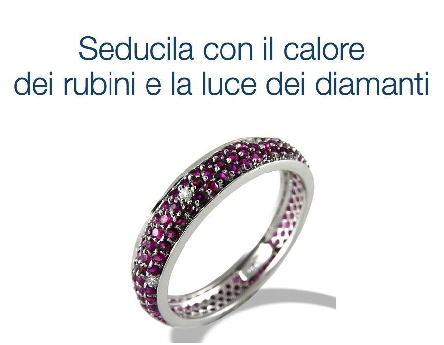 gioielli italiani anelli con rubini