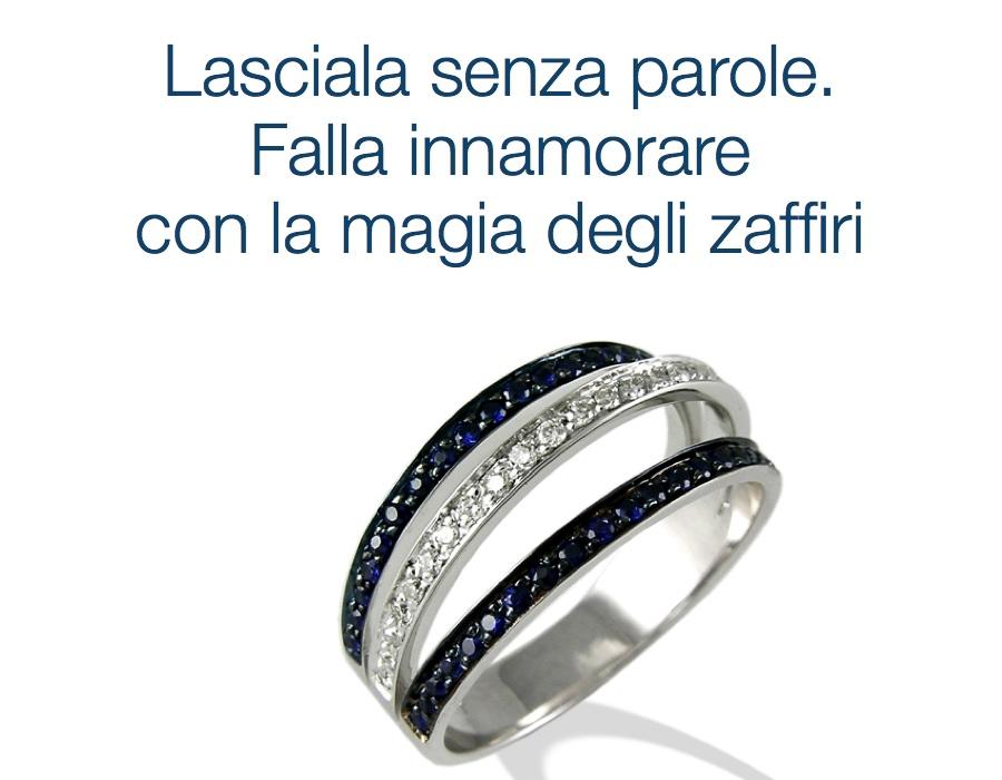 gioielli italiani anelli con zaffiri