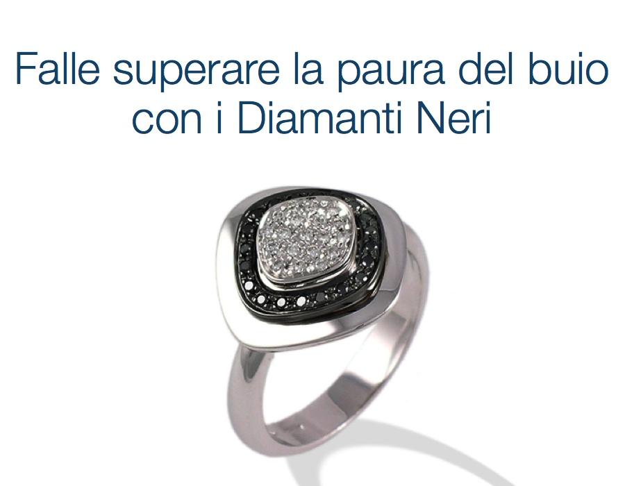 gioielli italiani anelli con diamanti neri