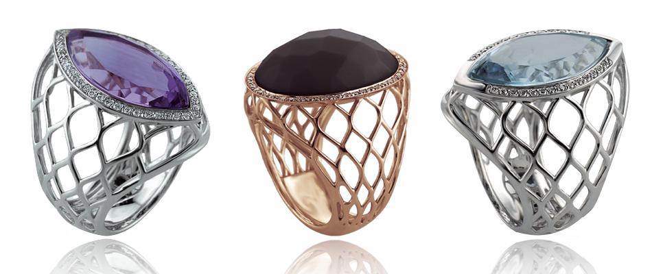 anelli con pietre dure
