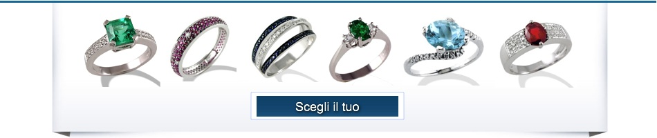anelli con pietre preziose
