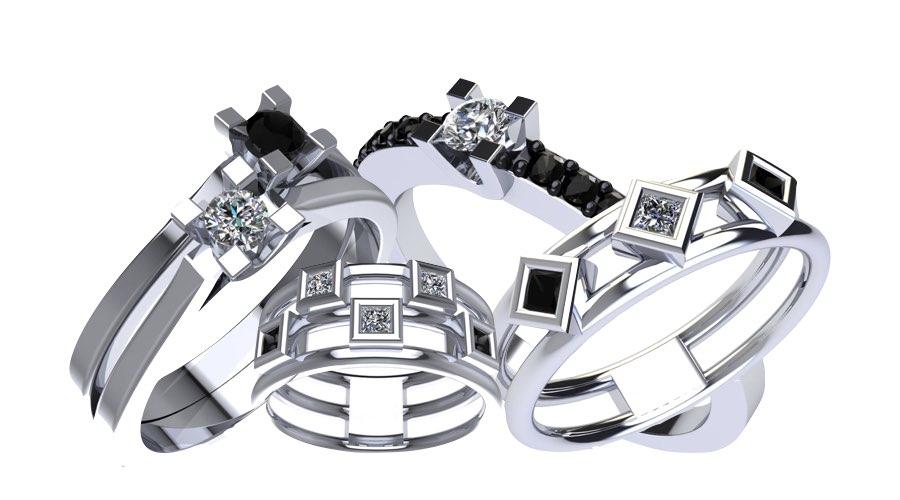 gioielli con diamanti neri