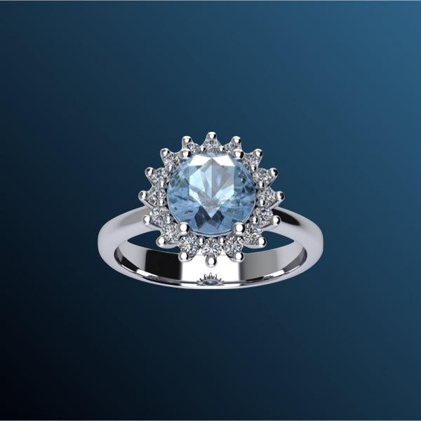 anelli di fidanzamento con acquamarina