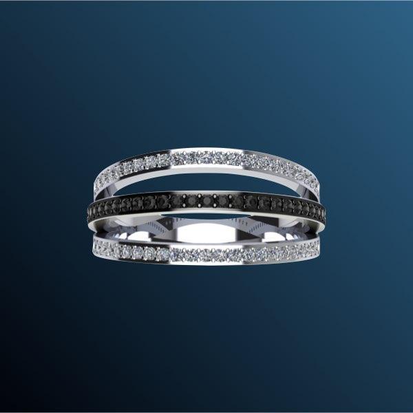 anelli di fidanzamento con diamanti neri