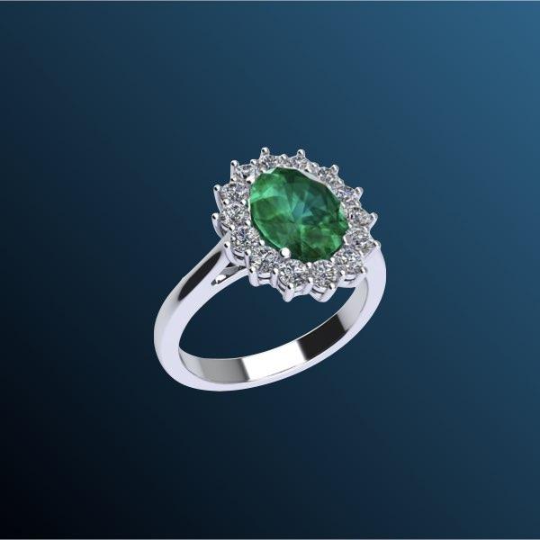 anelli di fidanzamento con smeraldo