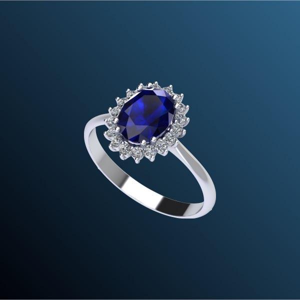anelli di fidanzamento con zaffiro