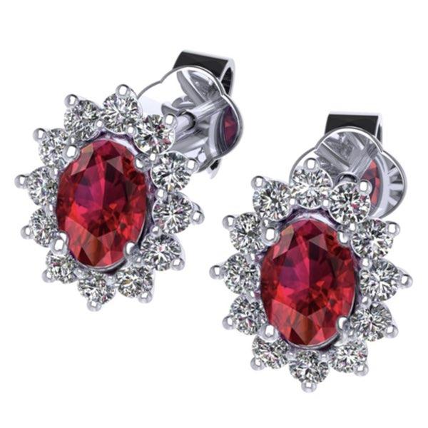 orecchini con rubino