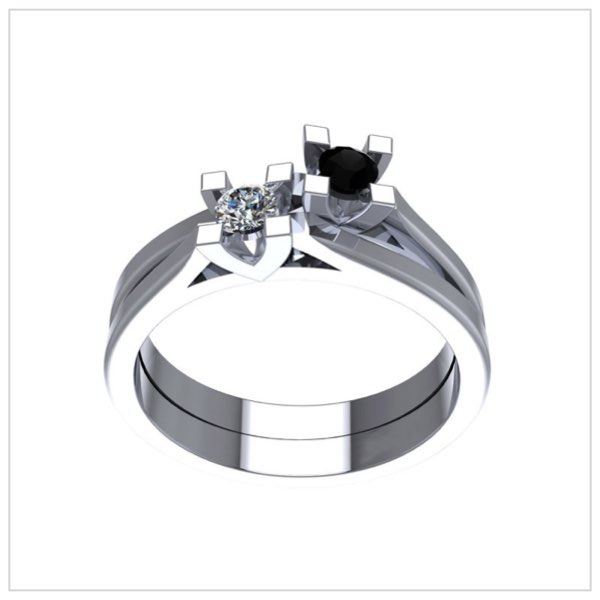 anelli diamanti neri