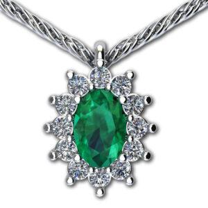 pendente con smeraldo