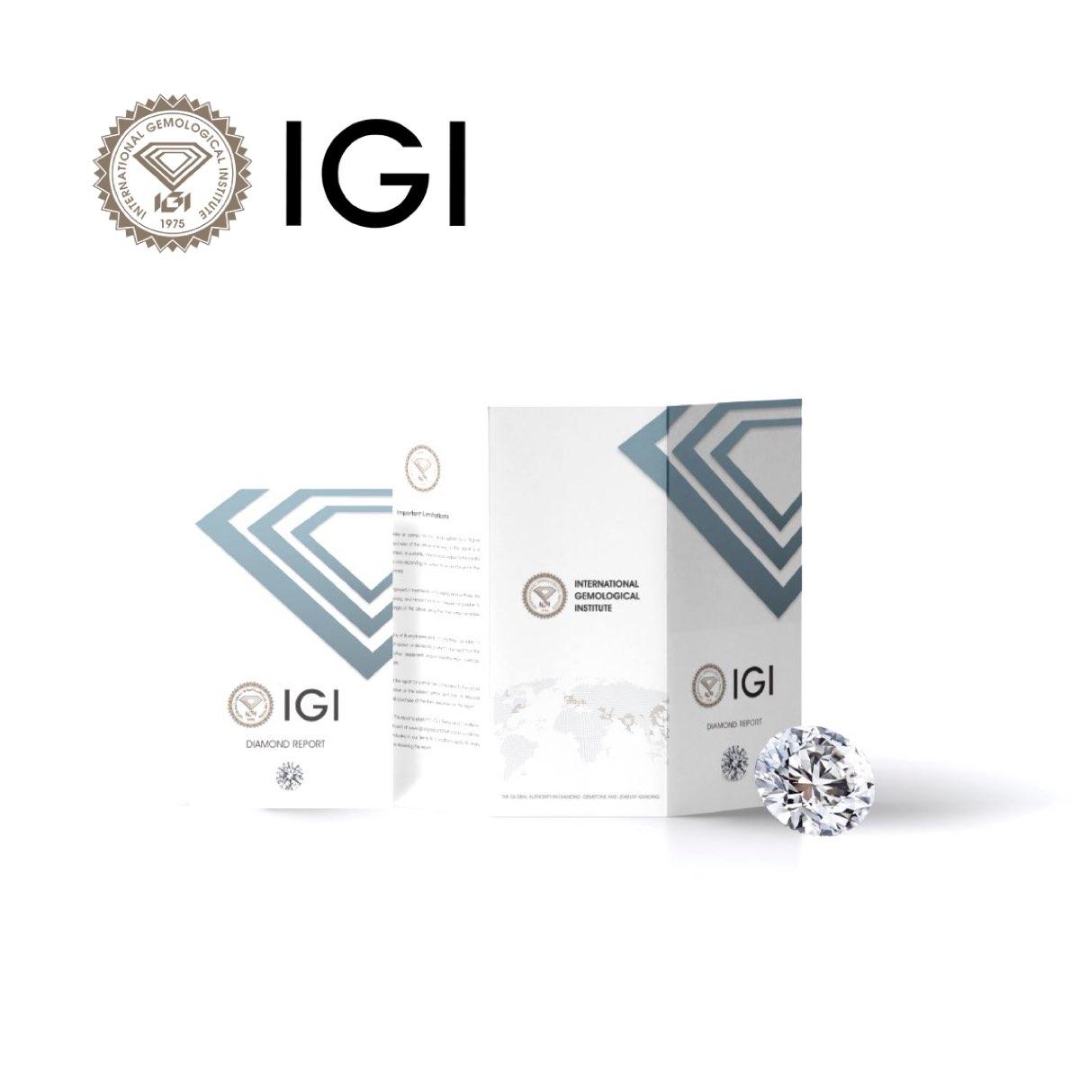 Certificato IGI cartaceo di un diamante