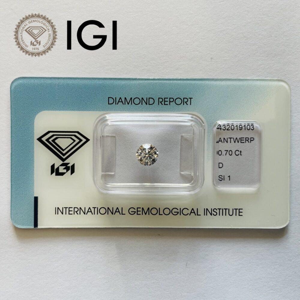 Diamante da 0.70ct S Si1