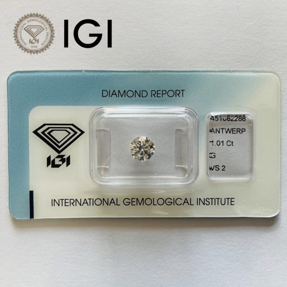 Diamante da 0.01 ct G Vs2 certificato Igi.