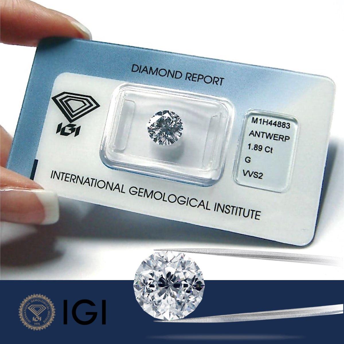 Diamanti certificati IGI sigillati