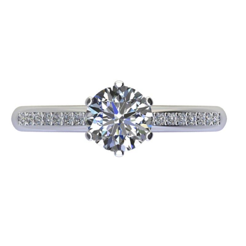 Anello 6 griffe con diamanti