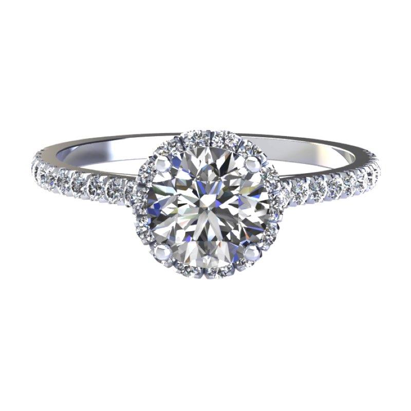 Montatura per anello di fidanzamento con contorno di diamanti