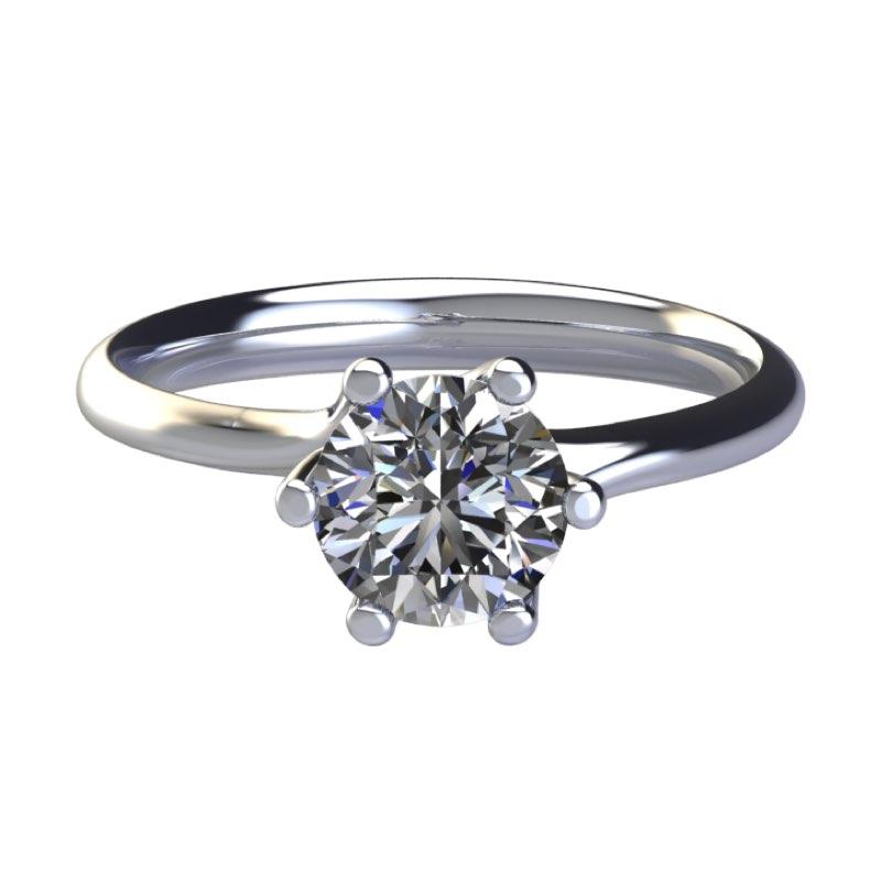 Montatura anelli di fidanzamento 6 griffe intrecciato