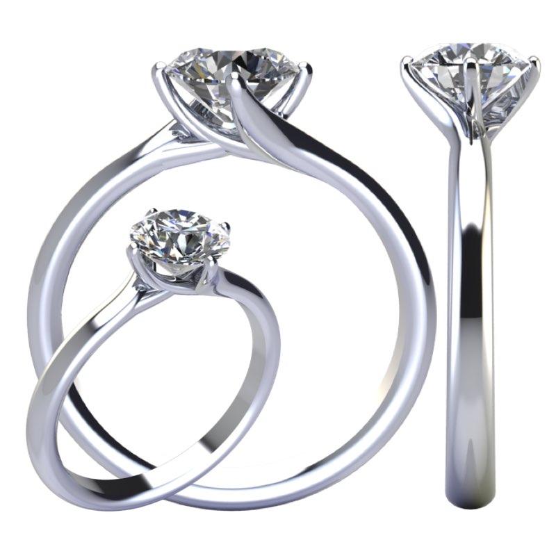 Montatura anello solitario Valentino Torinogioielli