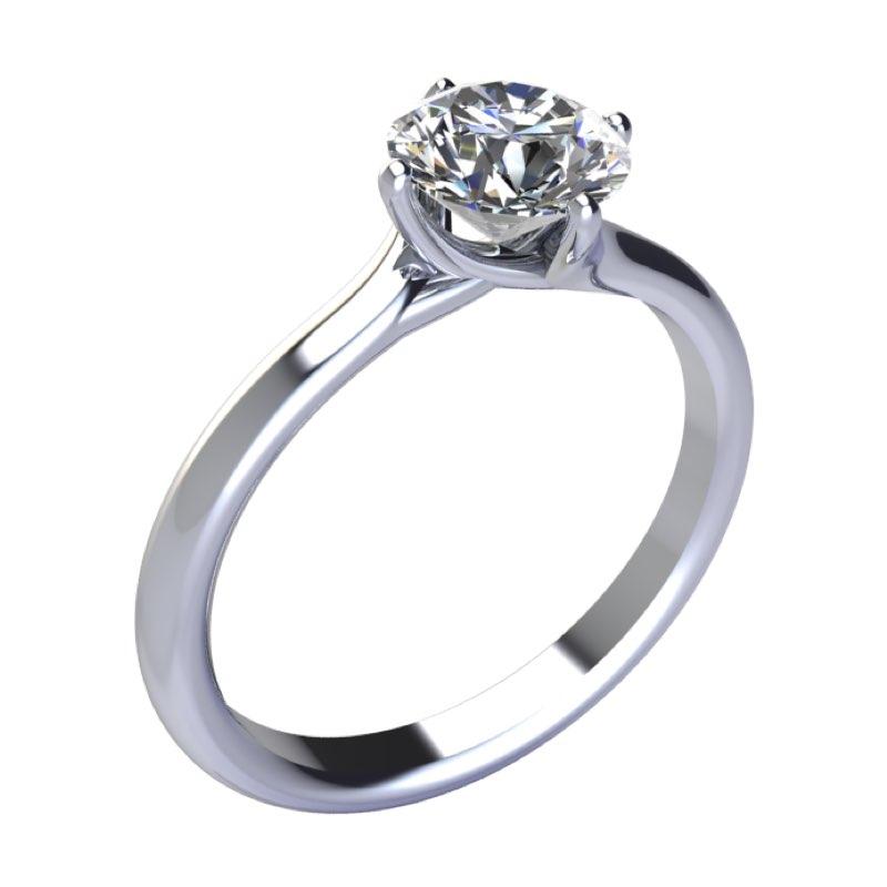 Montatura anello solitario Valentino