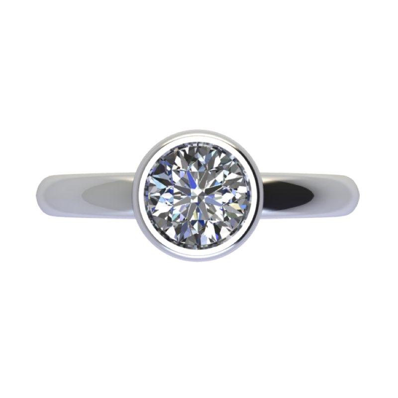 montatura solitario cerchio con diamante sospeso