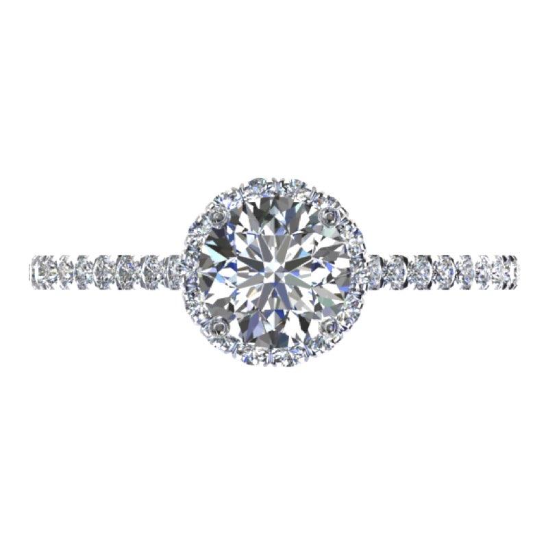 Solitario contorno diamanti