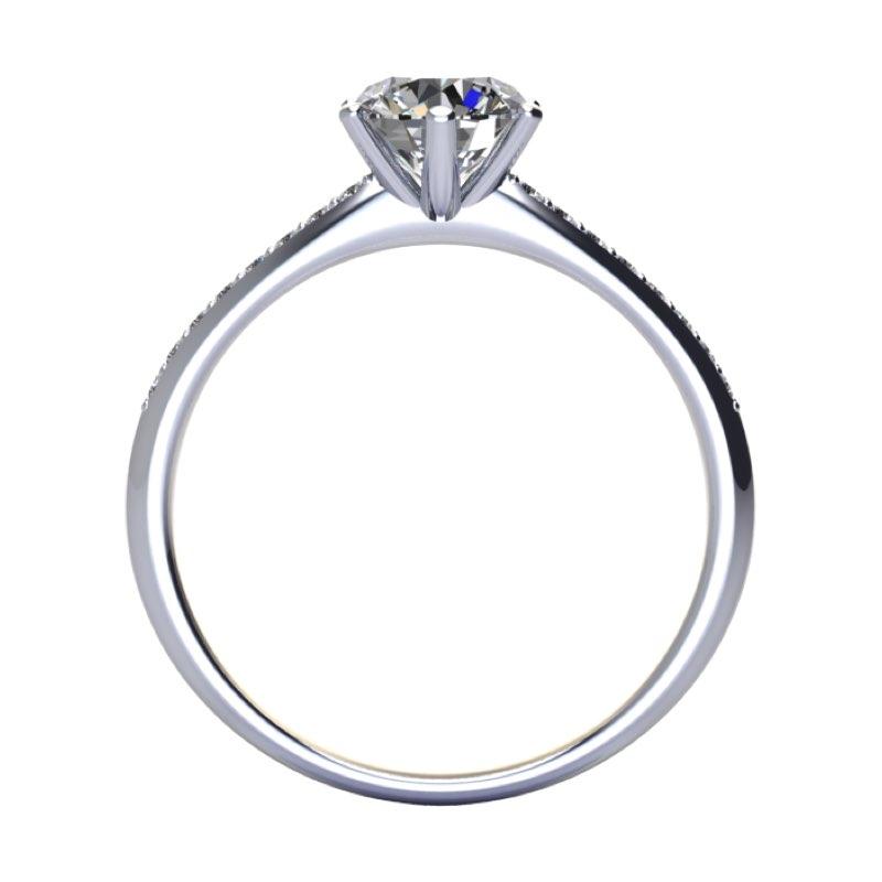 solitario 6 griffe con diamanti