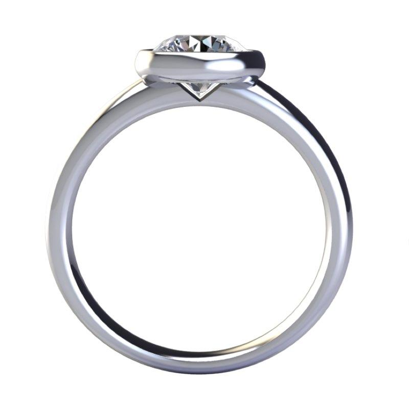 solitario cerchio con diamante sospeso