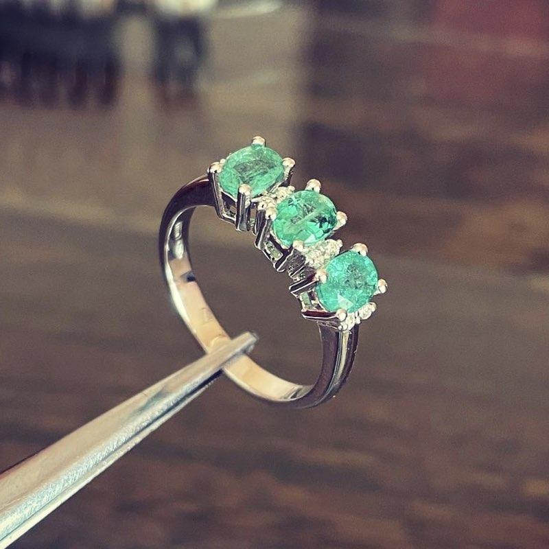 trilogy anello smeraldi