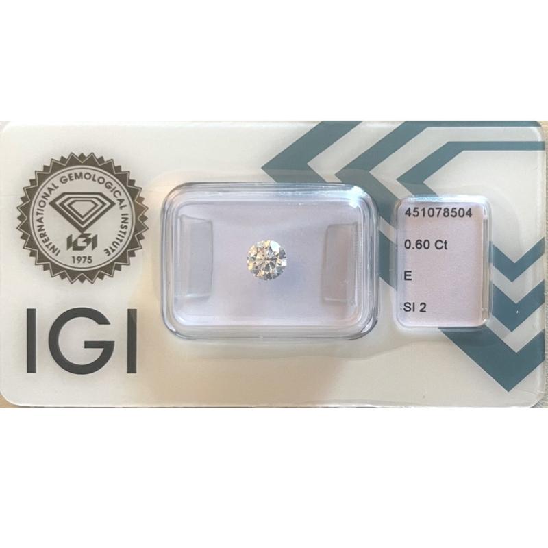 Diamante da 0.60 ct E Si2 IGI
