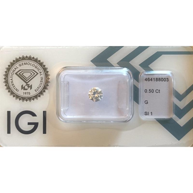 diamante da 0.50 ct G Si1 Igi