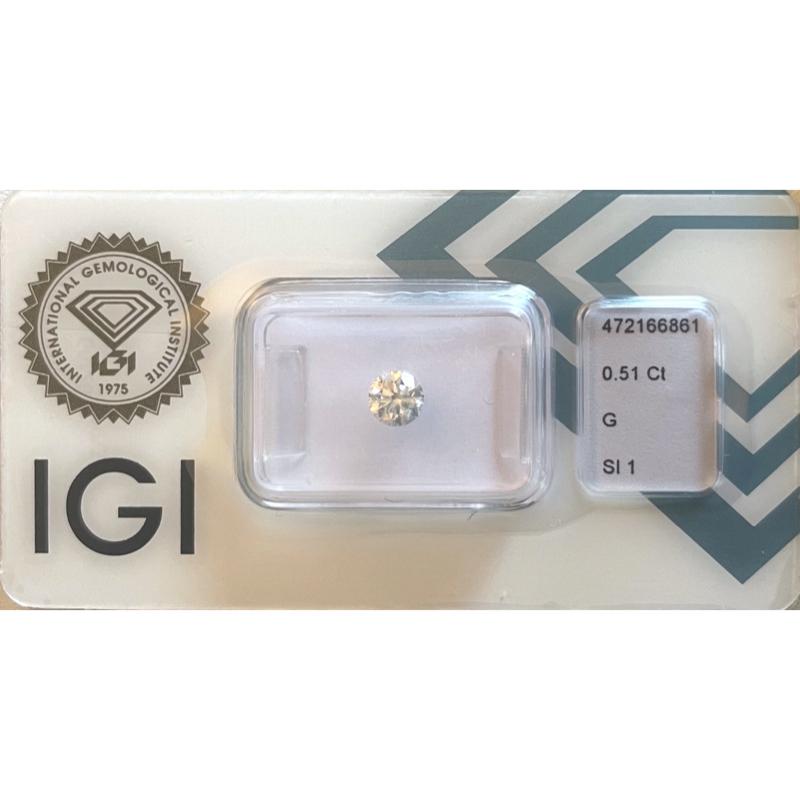 Diamante da 0.51 ct G Si1 IGI