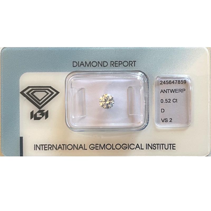Diamante da 0.52 ct d Vs2 IGI